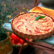 Easy Ham and Fresh Tomato Quiche - Great for brunch or breakfast after your holiday meal.