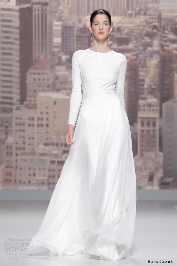 2015 Bridal Gowns Runway   ... wedding gown 2015 runway sidon long sleeve beaded bodice wedding dress