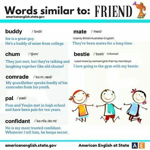 Friend: Synonyms