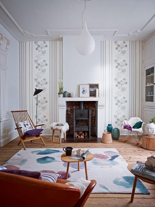 114 best Wandgestaltung images on Pinterest Wall design, Home - schöne tapeten für wohnzimmer