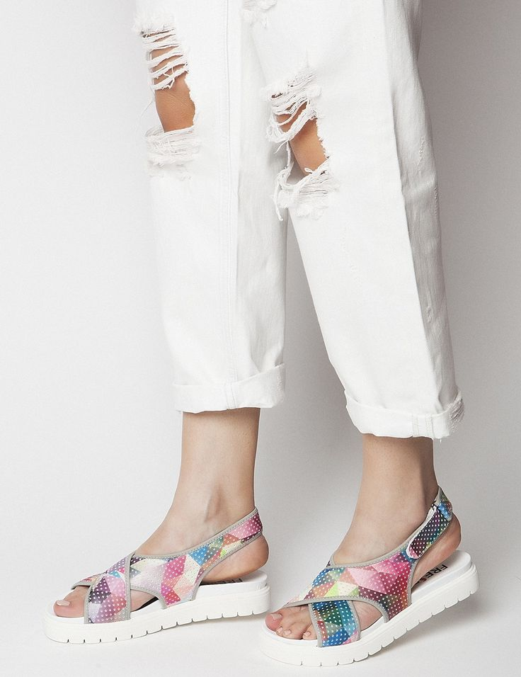 Holly Grey Sandals S/S 2015 #Fred #keepfred #shoes #collection #neoprene #fashion #style #new #women #trends #grey #sandals #colors #rainbow