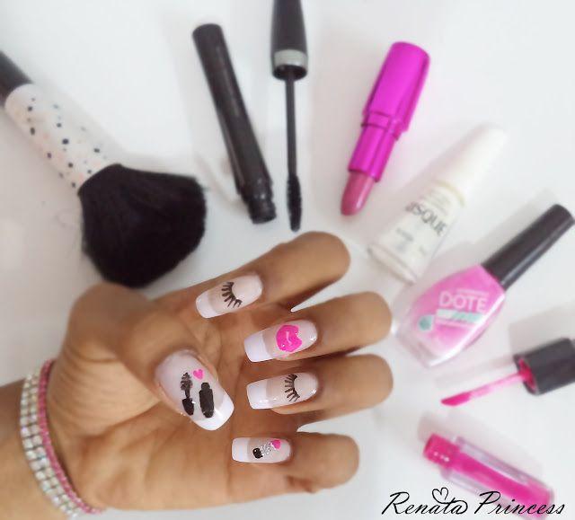 Blog da Renata Princess : Unhas Fofas ♥ Estampas de maquiagem