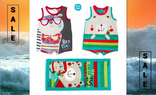 #baby #rompers and #beach #towels on sale at www.kidsandchic.com.  #sale #summersale #kidsfashion #babygift #showergift #babyboutique #kidsandchiccom #castelldefels #barcelona #bebe #regalobebe #modabebe