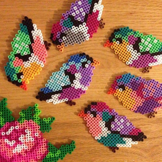 Birds perler beads by abbykristyne