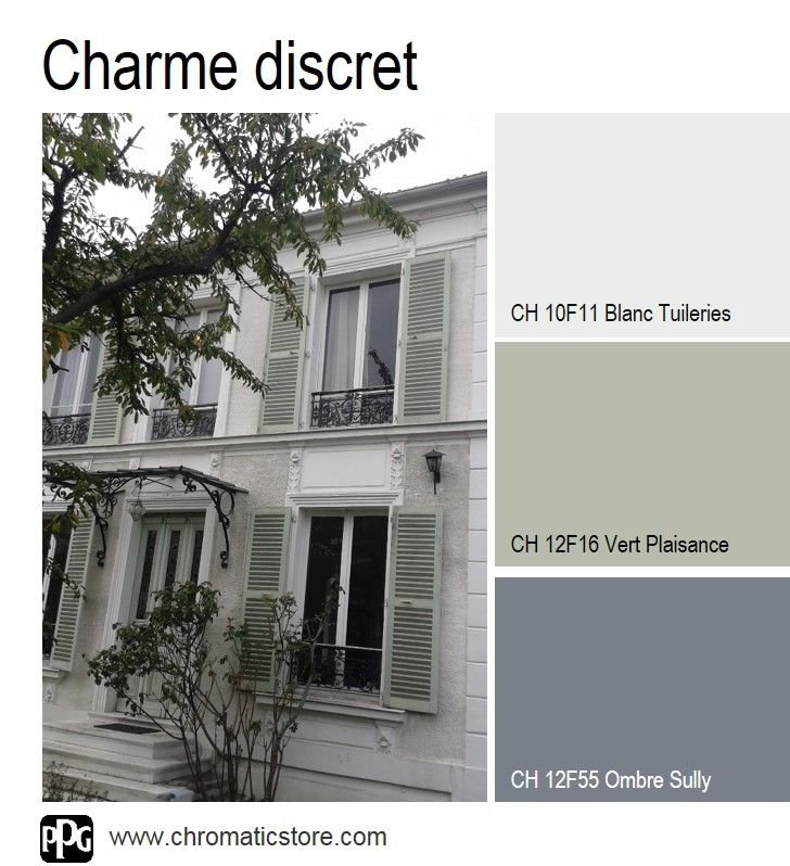 23 best images about chromatic en facade on pinterest for Couleur pour volet exterieur