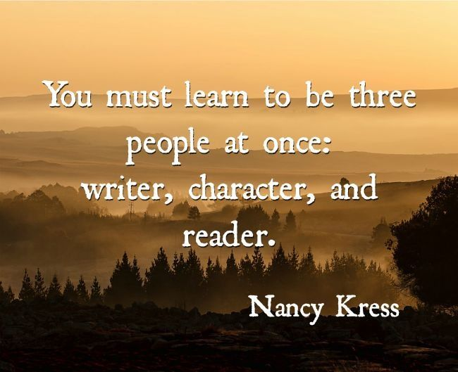 writer, character, and reader