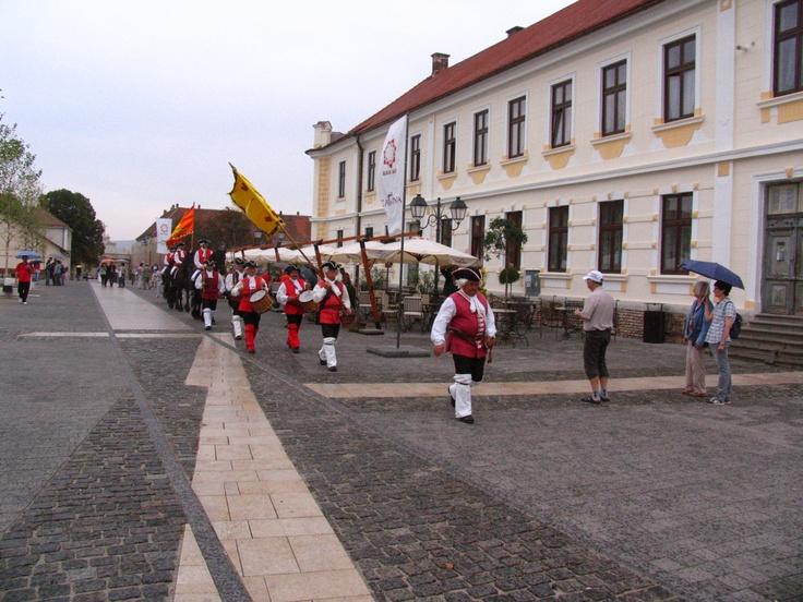 Replacing guards in Alba Iulia, Romania as it was made 200 years ago