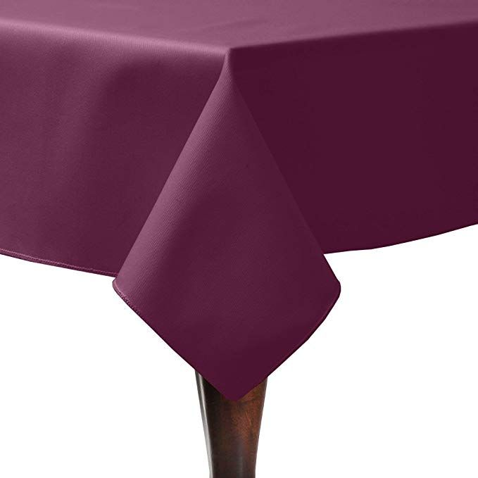 Ultimate Textile 5 Pack Poly Cotton Twill 54 X 54 Inch Square Tablecloth Burgundy Dark Red Review Ultimate Textile Table Cloth Oblong Tablecloth