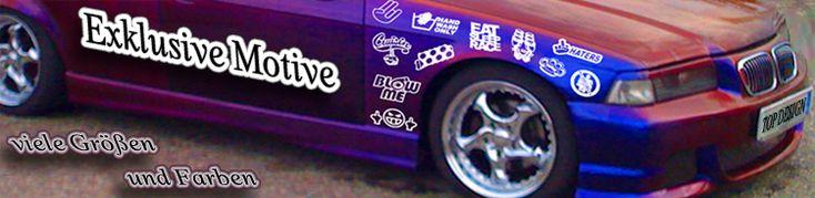Jdm Aufkleber und drift style stickers einfärbig oder in stickerbomb Folie.