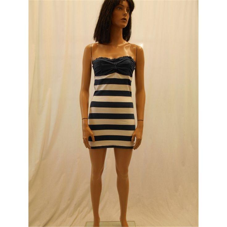 Hollister Size M Blue and White Stripe Bandeau Top | Oxfam GB | Oxfam's Online Shop