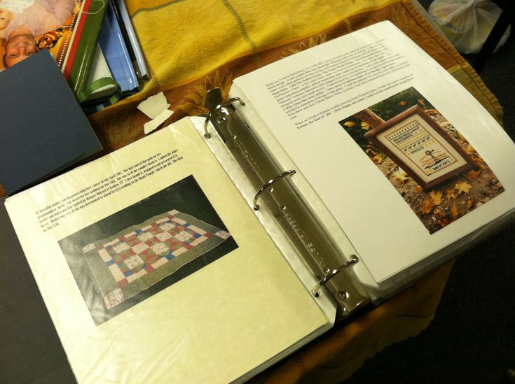 """Different Ways of Preserving Family History -""""One had recorded all the quilts, needlepoint and other crafts she had made for loved ones and friends and the reasons behind what she did."""""""