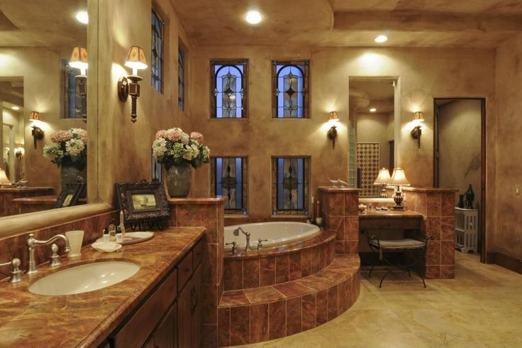 mediteranian bathrooms | Vinyl, Marble - simple, Mediterranean, Flat Panel, Stained Glass ...