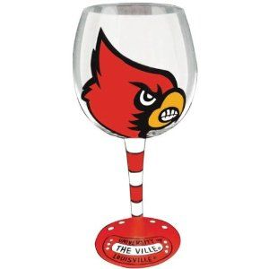 University of Louisville Wine Glass . $22.25. Each University of Louisville Wine Glass features the art of Alice Allred! The hand painted Louisville Wine Glass captures the fun-loving spirit of a Louisville Cardinals fan. Salute the University of Louisville tradition while sipping your favorite wine