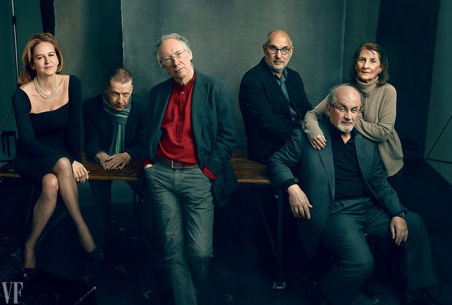 Salman Rushdie for Vanity Fair by Annie Leibovitz