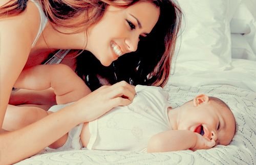 Baby giggles are the cutest :)