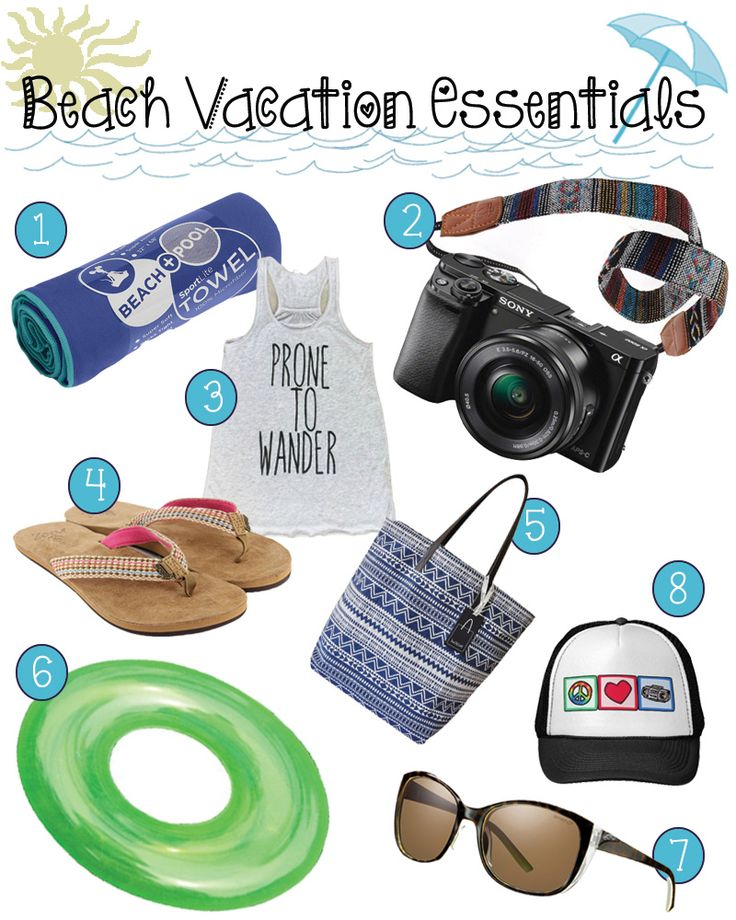A few of my favorite beach essentials for your upcoming summer vacation