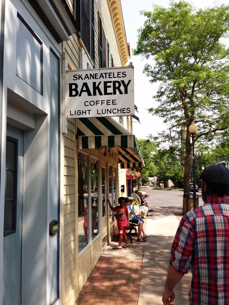 Skaneateles Bakery is best known for their delicious half moon cookies, but my favorite is their raisin bread.