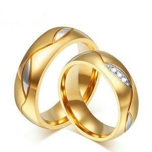 cincin perak couple lapis rhodium emas sepasang pria wanita