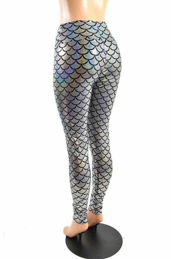 Silver Metallic Dragon Scale Foldover Waist by CoquetryClothing, $49.99