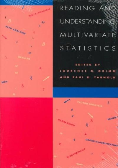 Reading and Understanding Multivariate Statistics