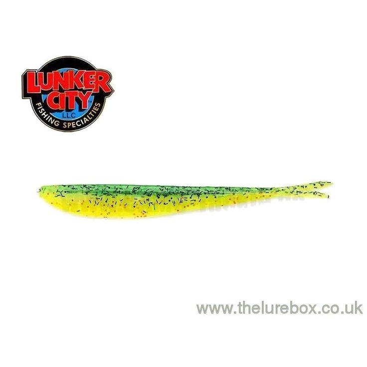 """Lunker City Fin-S Fish 4"""" Fire Perch"""