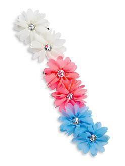 Girl's Six-Piece Floral Clip Set