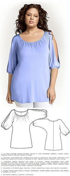 FASHION FOR FULL WOMEN - shirts, with bare shoulders.