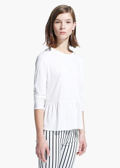 Top volante bajo - Camisetas de Mujer | OUTLET
