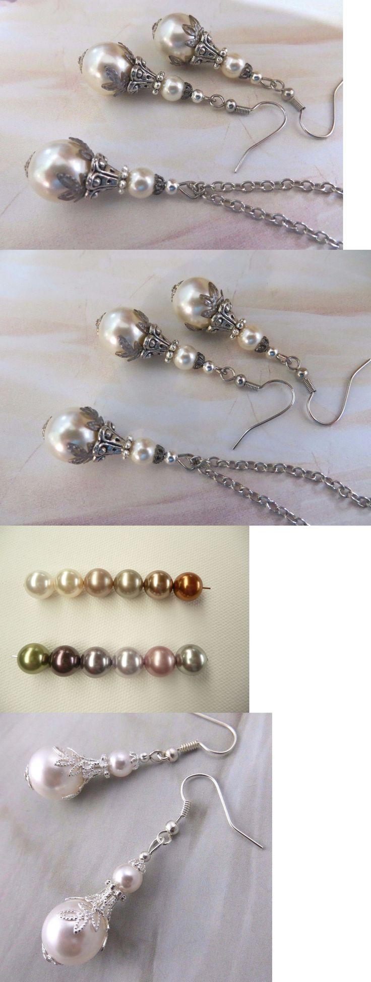 Earrings 113467: Antique Silver Pearl Jewellery Set Earrings Pendant White Handmade Gift Weddings -> BUY IT NOW ONLY: $64.95 on eBay!