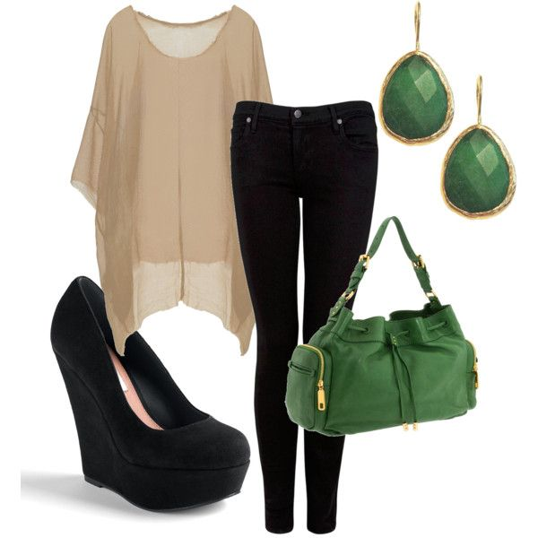 neutral/greenEmeralds, Fashion Style, Shirts, Colors, Green, Outfit, Black Jeans, Black Pants, While