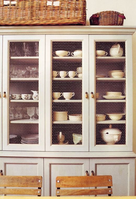 eventually I WILL find a china cabinet I can  redo to make it glam like this! I want to show off my China!!