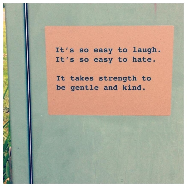 It takes strength to be gentle kind  Morrissey sticker project