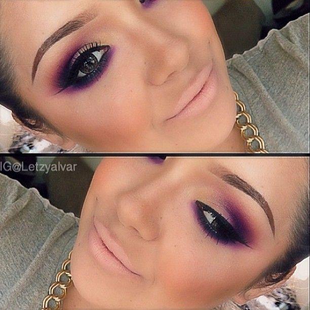 Gorgeous purple Smokey eye