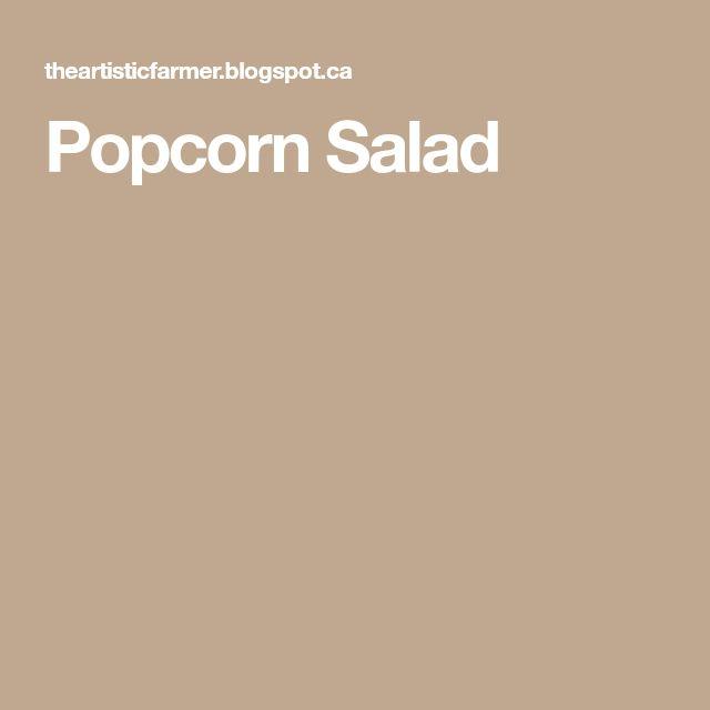 Popcorn Salad