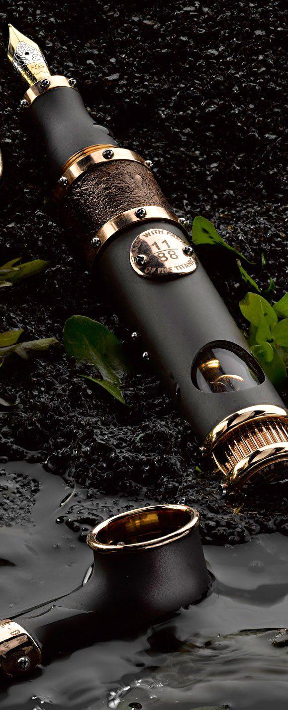 ♂ masculine & elegance The Titanic DNA Fountain Pens by Romain Jerome http://www.dubli.com/T0EUBG0S