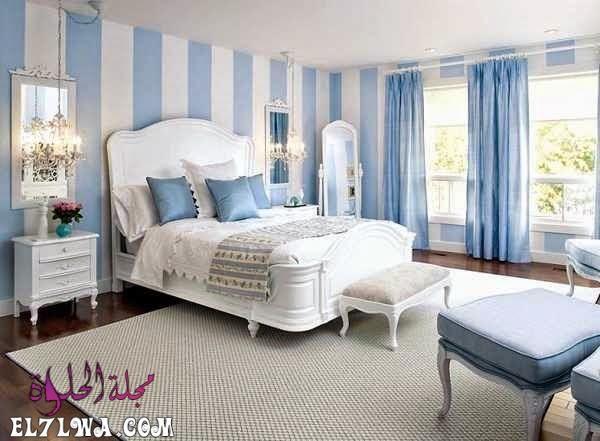 تتميز الوان دهانات حوائط 2021 بالتميز والتنوع الشديد من أجل أن ترضي جميع الأذواق وتتماشى مع طبيعة ا Minimalist Bedroom White Bedroom Design Blue Bedroom Colors