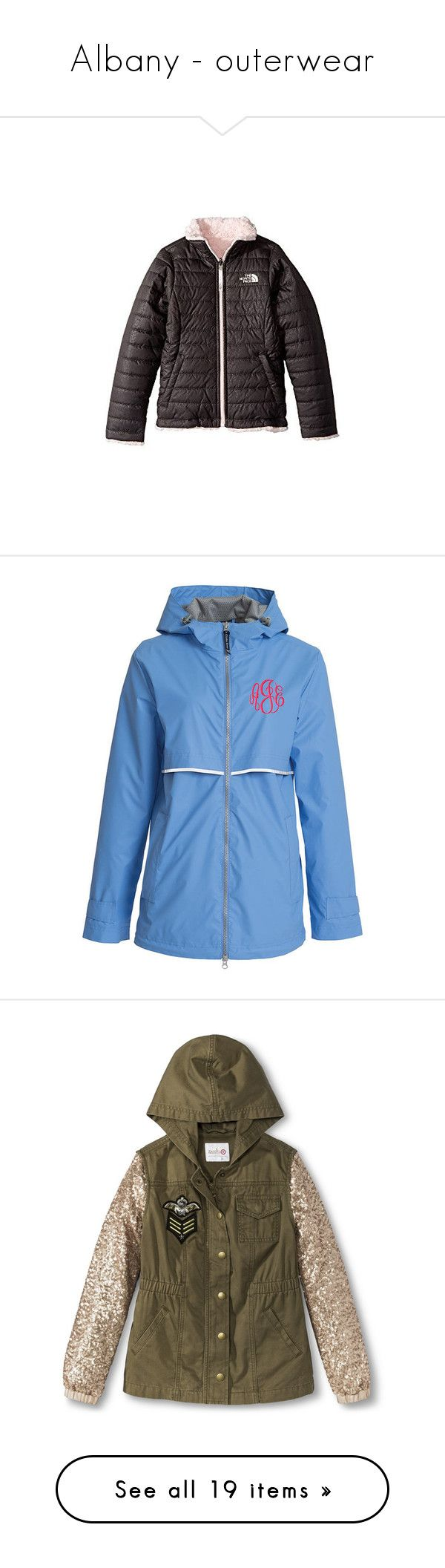 """Albany - outerwear"" by those-families ❤ liked on Polyvore featuring AlbanyAkira, outerwear, coats, black, women's clothing, stripe coat, hooded rain jacket, waterproof rain jacket, waterproof raincoat and monogrammed rain jacket"