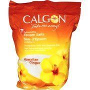 Calgon Rejuvenating Hawaiian Ginger Epsom Salts by Calgon. $14.99. This therapeutic salt contains fragrant oils which help to relieve tense muscles, soothe minor aches and pains and detoxify skin. Enjoy some soothing time by using this therapeutic bath salt.