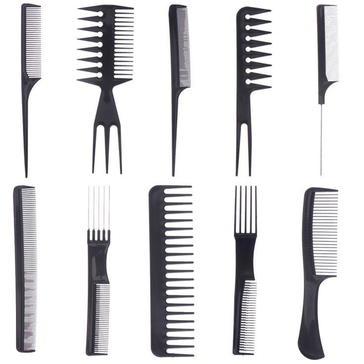 1 Set van 10 stks Kam Kappers Hair Styling Gereedschap Make Up Professionele Kammen Anti-statische Haarborstel Vrouwen's Haaraccessoires
