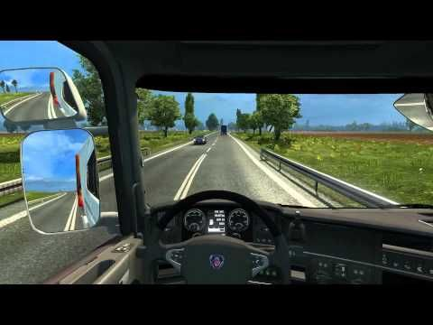 #2 Euro Truck Silmulator 2 driving Scania R560  from Stockholm to olszty...