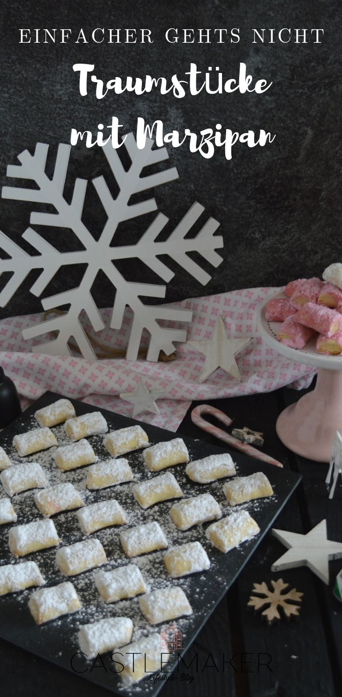 Traumstücke mit Marzipan / Marzipankissen / Plätzchenrezept – Castlemaker Lifestyle-Blog / Food / Travel / Fashion / Beauty / Backen