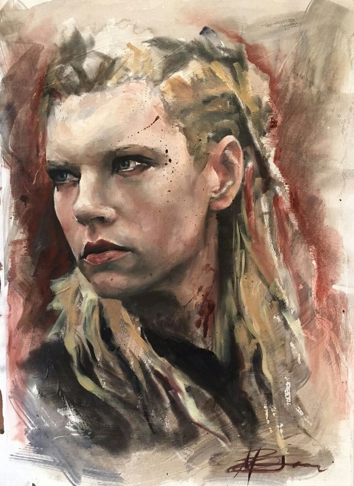 Image of Lagertha Lothbrok original oil painting