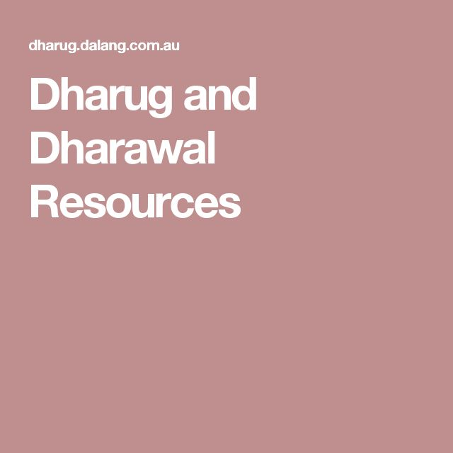 Dharug and Dharawal Resources