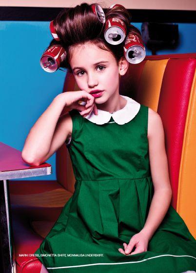 From our editorial - BACK TO FIFTIES!  Photos: Zhanna Romashka Stylist:Sabrina Mellace Stylist ass.: Filippo Scrivani Makeup and hair: Sara del Re @ freelancer . Marni dress, Simonetta shirt, Monnalisa underskirt. #marni #dress #simonetta #shirt #monnalisa #underskirt @MONNALISA spa #childrenswear #girls #childrenfashion