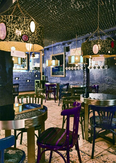 purple cafe - said to be in Minsk!
