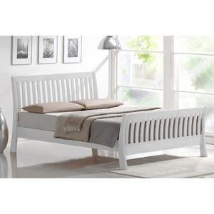 sandra double white sleigh bed frame