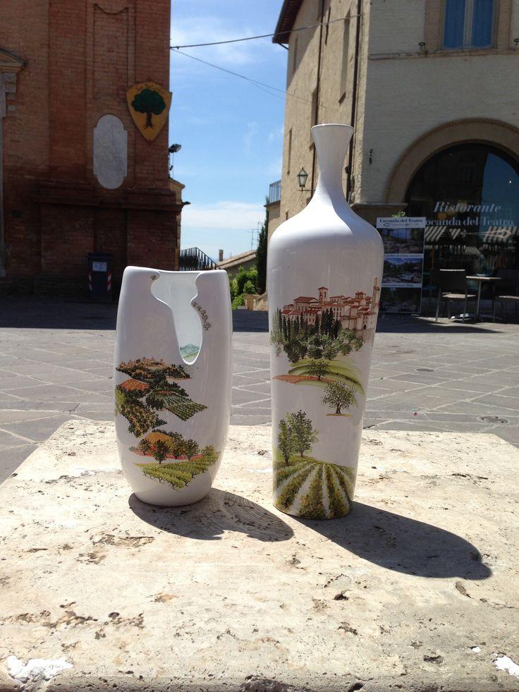 Materia Ceramica Taticchi - vasi dipinti a mano - cittadina Medioevale  #paesaggioumbro  #Montefalco   #stradedelvino #souvenir #umbria #gift