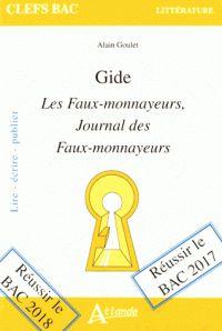 Gide : Les faux-monnayeurs, Journal des faux-monnayeurs /  Goulet, Alain (1940-....) http://bu.univ-angers.fr/rechercher/description?notice=000818761