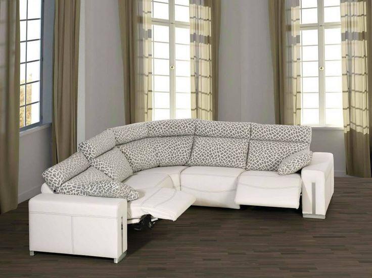 Rinconera blanca con relax el ctrico sofas pinterest - Sofa rinconera ...