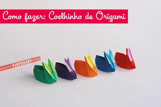 Coelhos de origami - Receita original de Jackie Chan.